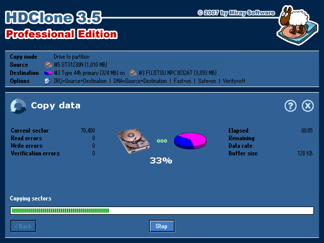 HDClone 4.2.1 Free Edition