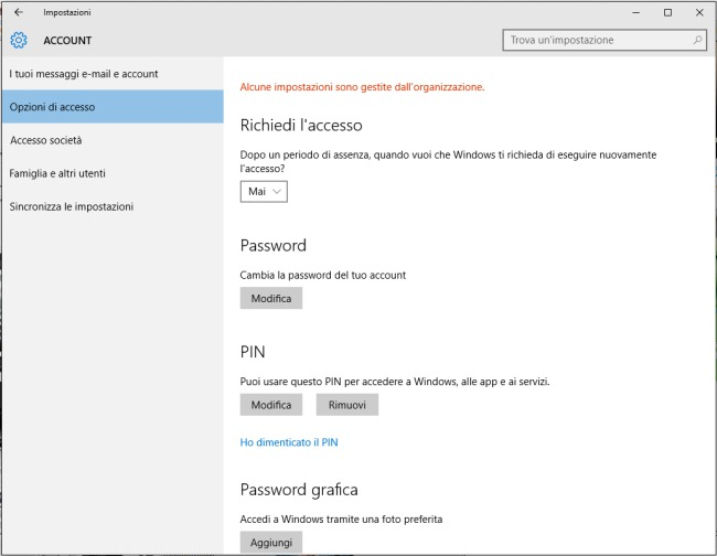 Accedere a Windows senza password