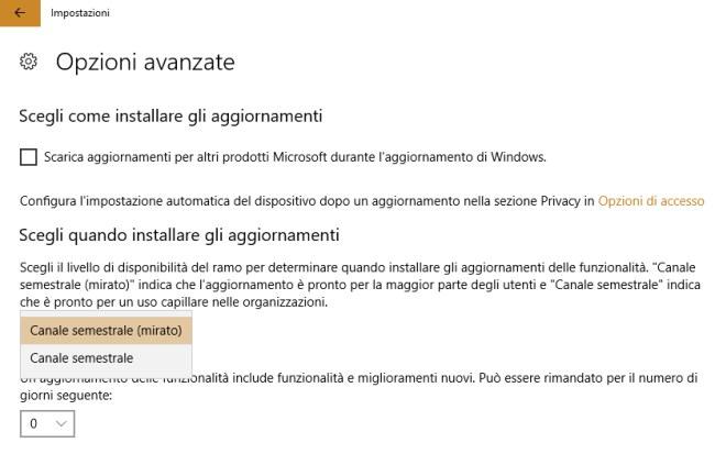 Sospendere l'aggiornamento a Windows 10 Aggiornamento di ottobre 2018