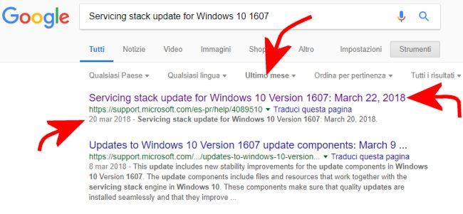 Aggiornamento di Windows non si installa e compare l'errore