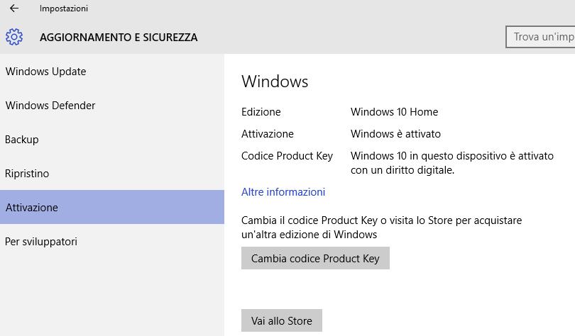codice product key windows 10 gratis