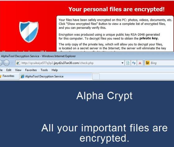 File cifrati come .EZZ e .EXX: si tratta di AlphaCrypt