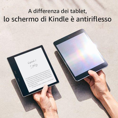 96730614cb02f8 Kindle Oasis, Amazon presenta il nuovo lettore di eBook resistente all'acqua