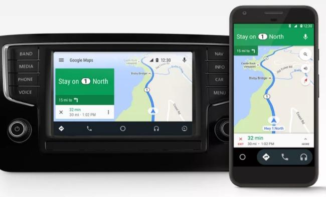 android auto diventa un 39 app per dispositivi mobili. Black Bedroom Furniture Sets. Home Design Ideas