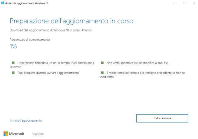 Assistente aggiornamento Windows 10: cos'è e quando è utile