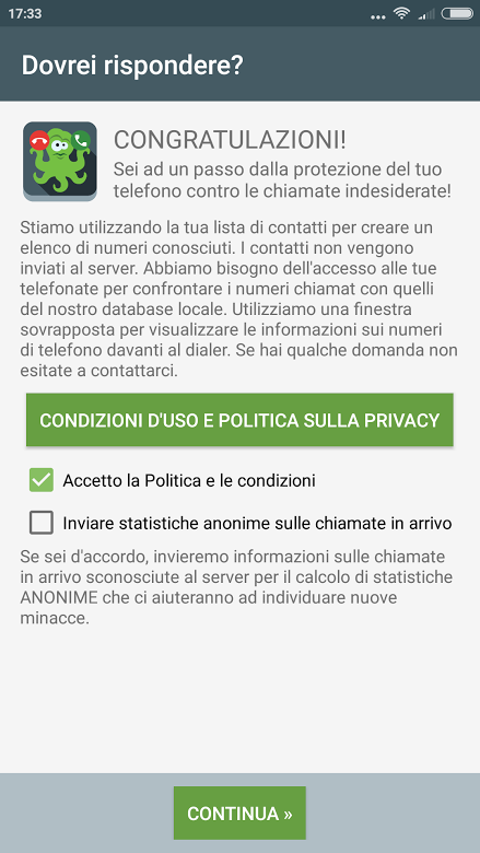Bloccare chiamate call center su Android