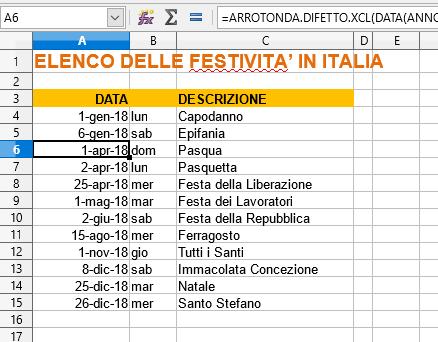 Calendario 2020 Pdf Stampabile.Calendario 2019 In Formato Excel Con Le Festivita Italiane