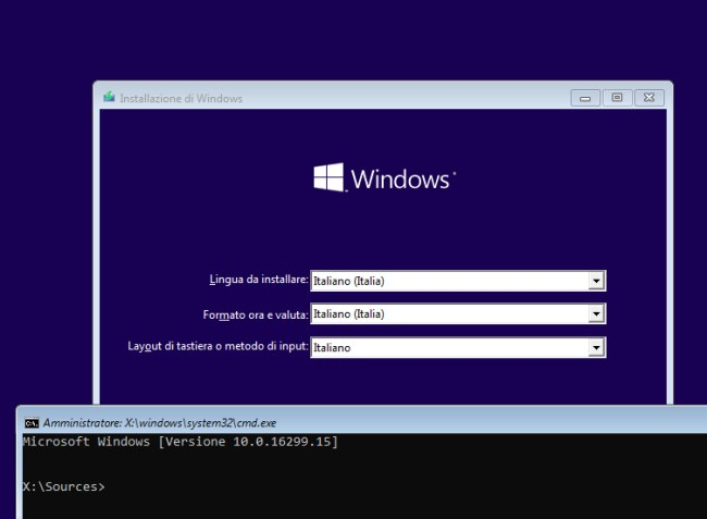 Cancellare account Windows e creare un account amministratore
