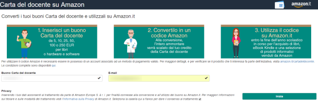 Carta del docente, come usare i 500 euro su Amazon