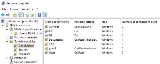 Cartelle condivise in Windows, come ottenere la lista completa