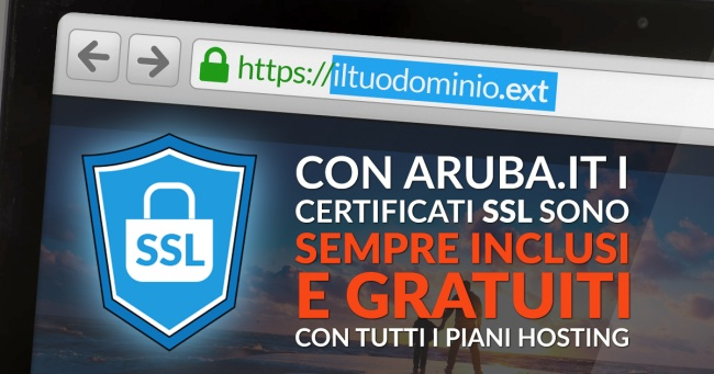 Certificato SSL Aruba, da oggi disponibile in hosting