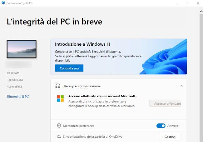 Windows 11 verificare requisiti minimi