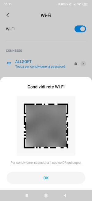Come condividere password WiFi su Android 10