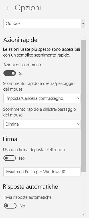 Configurare posta in Windows 10 con l'app di sistema