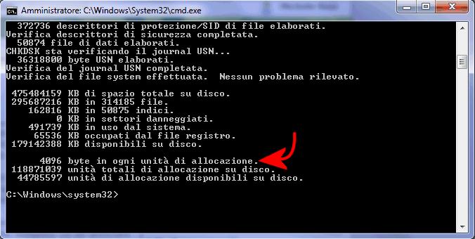 Dimensioni e dimensioni su disco: che differenza c'è nella memorizzazione dei file?