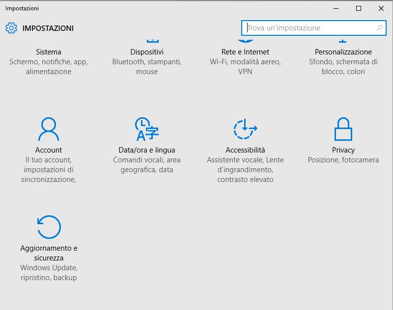 Disinstallare Windows 10 e tornare a Windows 7 o Windows 8.1