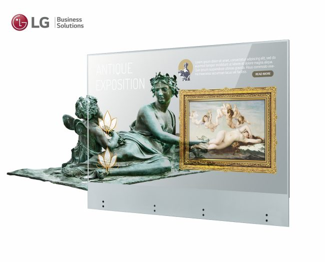 LG Electronics presenta il display OLED Transparent Touch