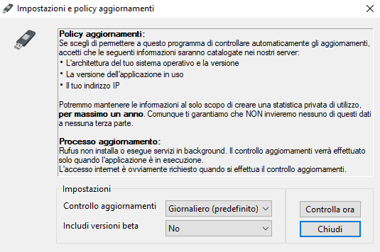 Download ISO Windows 10 e 8.1 e inserimento in una chiavetta USB con Rufus