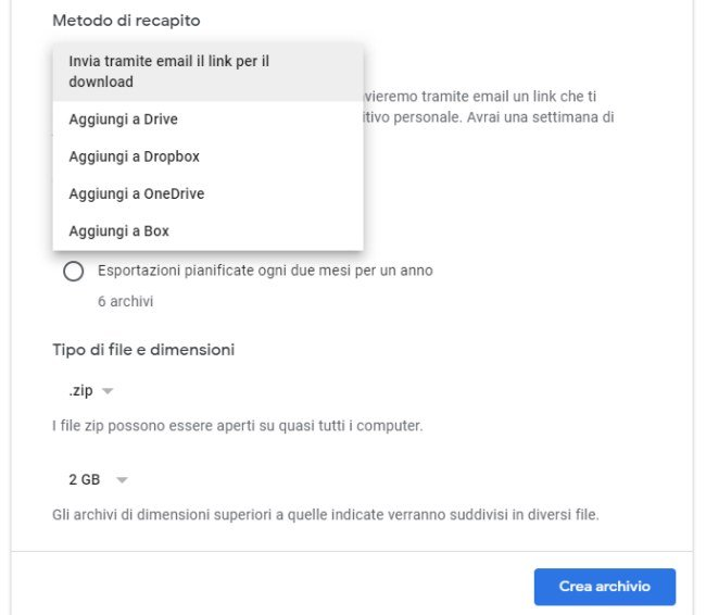 Come esportare le note di Google Keep