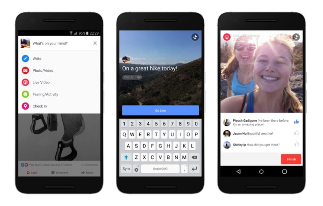 Facebook punta molto sul live streaming