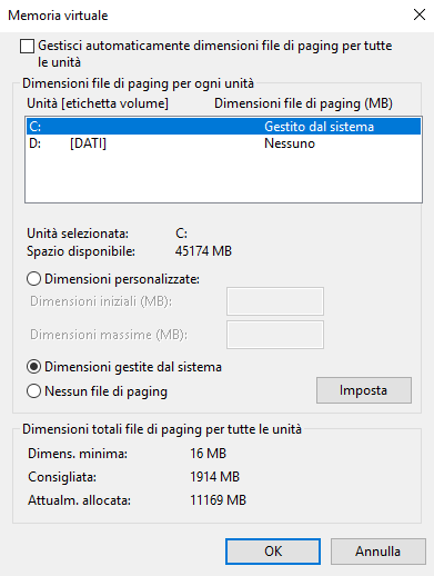 File di paginazione pagefile.sys: a cosa serve e come gestirlo