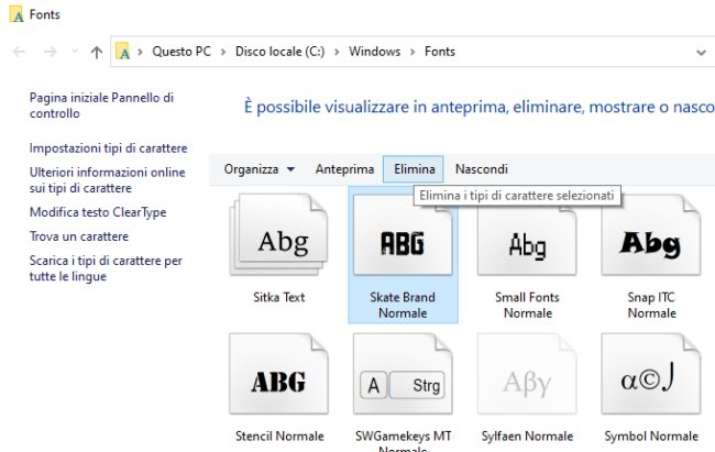 Fonts o tipi di carattere per documenti Word e PDF