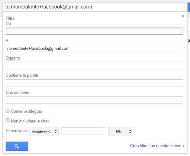 Gmail posta in arrivo configurazione filtri e alias