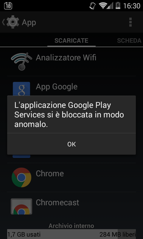 Google Play Services si è bloccata in modo anomalo: come risolvere