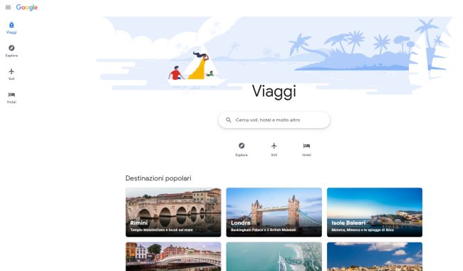 Google presenta un nuovo strumento per pianificare viaggi