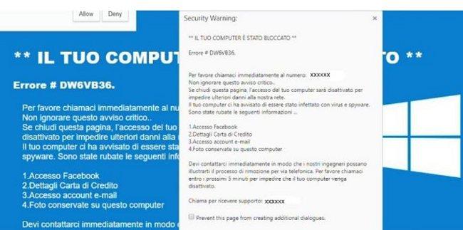 il tuo computer stato bloccato come funziona la nuova