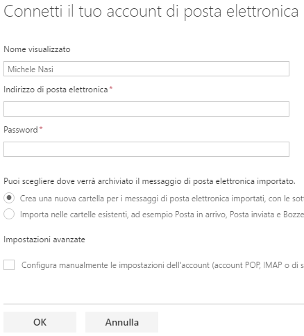 Come importare account e-mail in Outlook.com in Gmail o in altri servizi