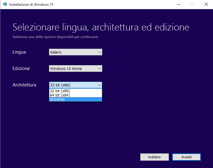 Installazione pulita di Windows 10 e Product Key