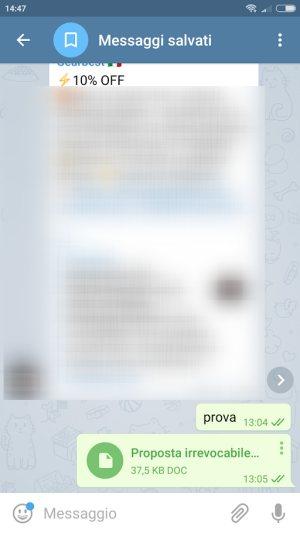 Inviare un messaggio a sé stessi su WhatsApp e Telegram