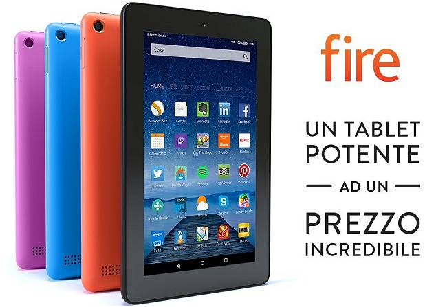 Amazon Kindle Fire 7 pollici in promozione a 1 euro