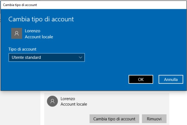 Limitare account Windows 10, come impostare tempi di utilizzo