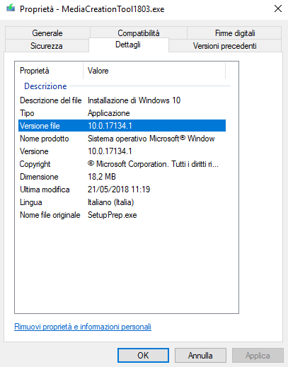 Media Creation Tool e aggiornamento di Windows 10 in-place
