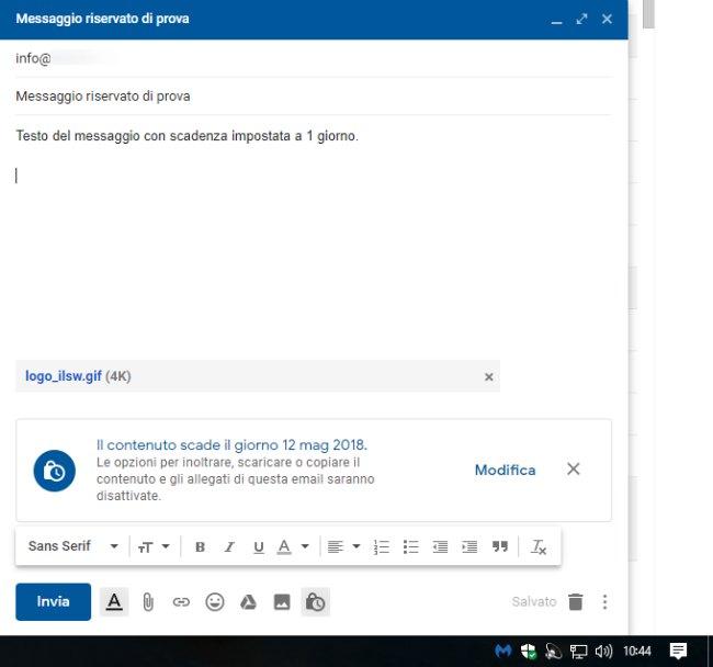 Inviare messaggi che si autodistruggono con Gmail