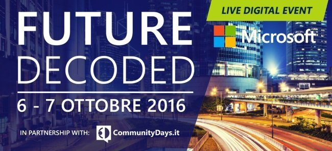 Future Decoded: i vantaggi del cloud. L'evento in streaming