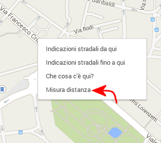Misurare distanze su Google Maps
