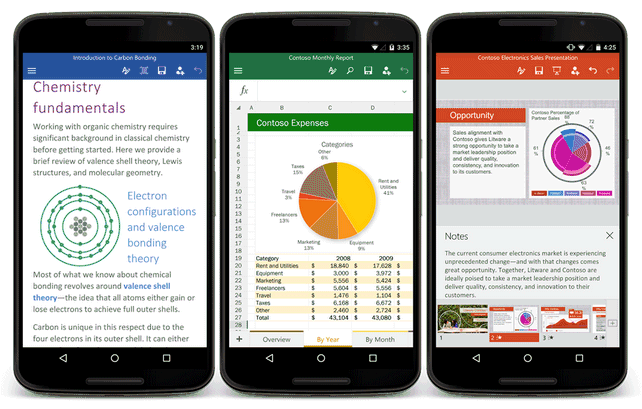 Office per Android, ecco le versioni definitive
