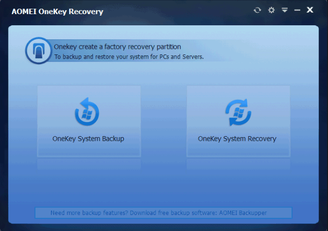 AOMEI OneKey Recovery 1.2