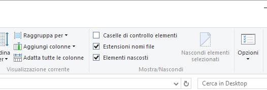 Opzioni cartella in Windows 10, cosa c'è di nuovo e di vecchio