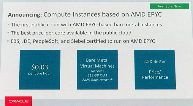 AMD ruggisce in ambito server con i suoi processori EPYC: è accordo con Oracle