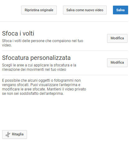 Oscurare volti nei video: come fare con l'editor di YouTube