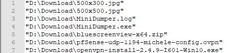 Ottenere la lista dei file contenuti in una cartella usando solo l'interfaccia di Windows 10