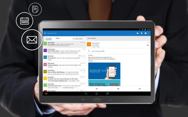 Outlook per Android in versione finale