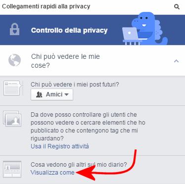 profilo facebook come lo vedono gli altri