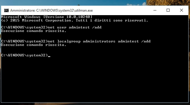 Recuperare password degli account utente in Windows 10