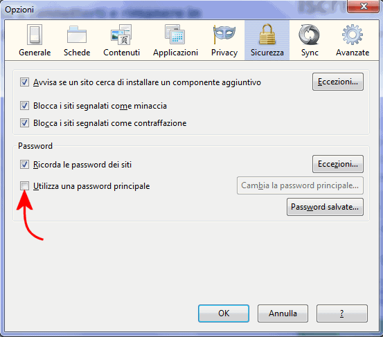 Memorizzare password e gestirle in sicurezza