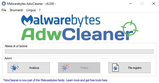 Rimuovere toolbar con AdwCleaner, ora proprietà di Malwarebytes